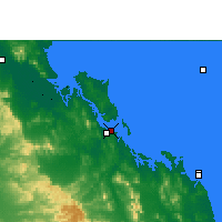 Nearby Forecast Locations - Gladstone - Map