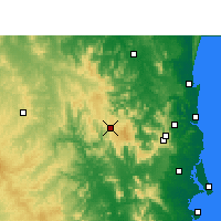 Nearby Forecast Locations - Jimna Forestry - Map