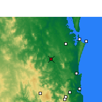 Nearby Forecast Locations - Gympie - Map