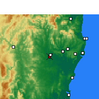 Nearby Forecast Locations - Casino - Map