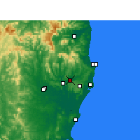 Nearby Forecast Locations - Lismore - Map
