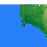 Nearby Forecast Locations - Augusta Cape - Map