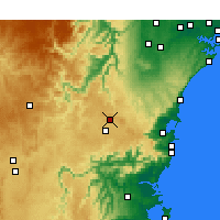 Nearby Forecast Locations - Bowral - Map
