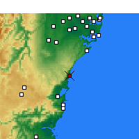 Nearby Forecast Locations - Bellambi Aws - Map