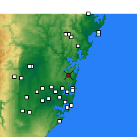 Nearby Forecast Locations - Terrey Hills - Map