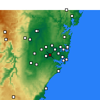 Nearby Forecast Locations - Bankstown - Map