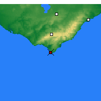 Nearby Forecast Locations - Cape Otway - Map