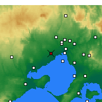 Nearby Forecast Locations - Melbourne - Map
