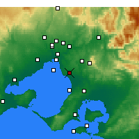 Nearby Forecast Locations - Moorabbin - Map