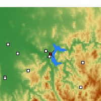 Nearby Forecast Locations - Hume Dam - Map