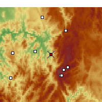 Nearby Forecast Locations - Khancoban - Map