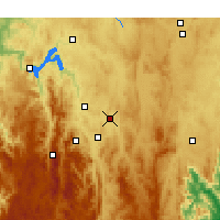 Nearby Forecast Locations - Canberra - Map