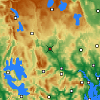 Nearby Forecast Locations - Ouse - Map