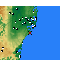 Nearby Forecast Locations - Wattamolla Aws - Map