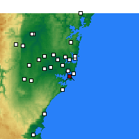 Nearby Forecast Locations - Kurnell - Map