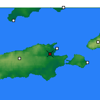 Nearby Forecast Locations - Kingscote AP - Map