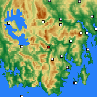 Nearby Forecast Locations - Warra - Map