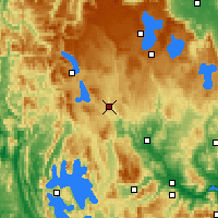 Nearby Forecast Locations - Tarraleah - Map