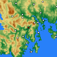 Nearby Forecast Locations - Grove - Map