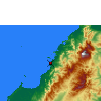 Nearby Forecast Locations - Kota Kinabalu - Map