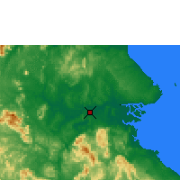 Nearby Forecast Locations - Tanjung Redep/be - Map