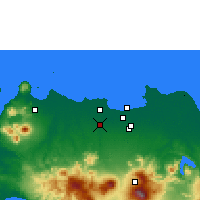 Nearby Forecast Locations - Curug - Map