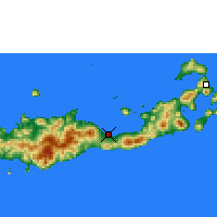 Nearby Forecast Locations - Maumere - Map