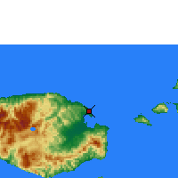 Nearby Forecast Locations - Namlea/buru Isla - Map