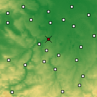 Nearby Forecast Locations - Weißenfels - Map