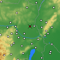 Nearby Forecast Locations - Gänserndorf - Map