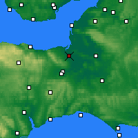 Nearby Forecast Locations - Bridgwater - Map