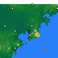 Nearby Forecast Locations - Qingdao Airport - Map