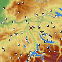 Nearby Forecast Locations - Baden - Map