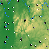 Nearby Forecast Locations - Erbach im Odenwald - Map