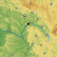Nearby Forecast Locations - Lichtenfels - Map