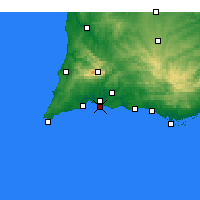 Nearby Forecast Locations - Praia da Rocha - Map