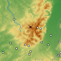 Nearby Forecast Locations - Gérardmer - Map