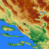 Nearby Forecast Locations - Imotski - Map