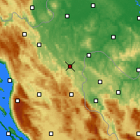 Nearby Forecast Locations - Slunj - Map