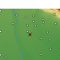 Nearby Forecast Locations - Amroha - Map