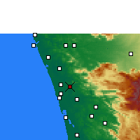 Nearby Forecast Locations - Chalakudy - Map