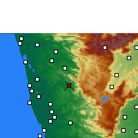 Nearby Forecast Locations - Erattupetta - Map