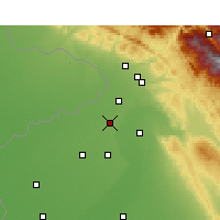 Nearby Forecast Locations - Gurdaspur - Map