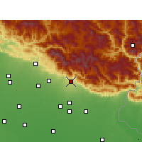 Nearby Forecast Locations - Haldwani - Map