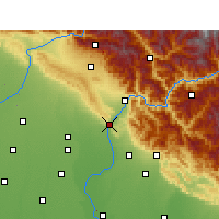 Nearby Forecast Locations - Haridwar - Map