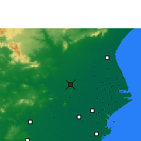 Nearby Forecast Locations - Jajpur - Map