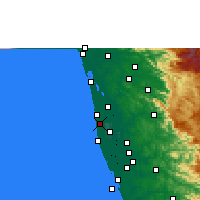 Nearby Forecast Locations - Kanjikkuzhi - Map