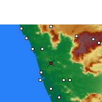 Nearby Forecast Locations - Malappuram - Map
