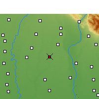 Nearby Forecast Locations - Muzaffarnagar - Map