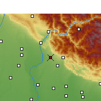 Nearby Forecast Locations - Najibabad - Map